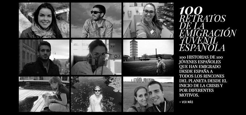 Portada HOME - 100 retratos de la emigración juvenil española (Fundación porCausa).