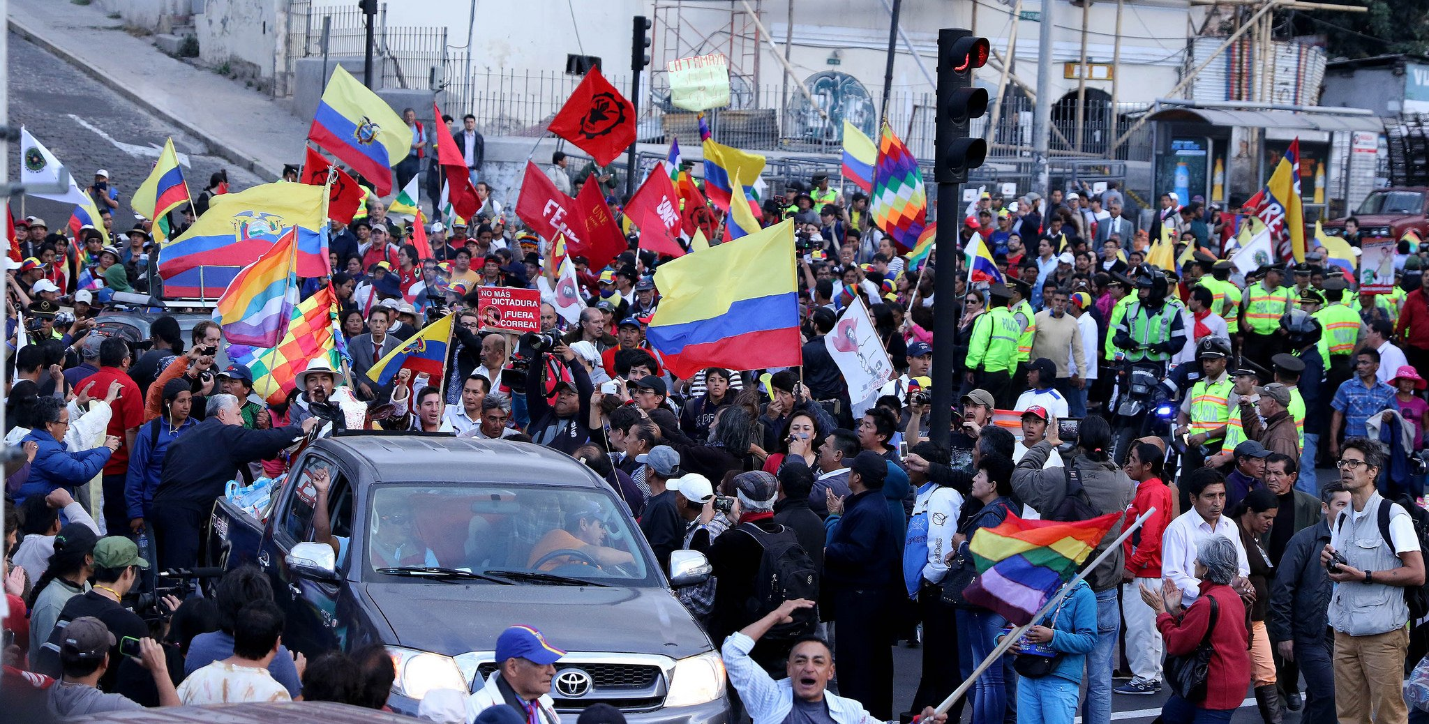 Ecuador en pie de lucha