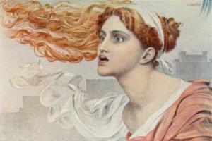 El mito de Casandra ilustrado por el pintor prerrafaelita Anthony Frederick Augustus Sandys.