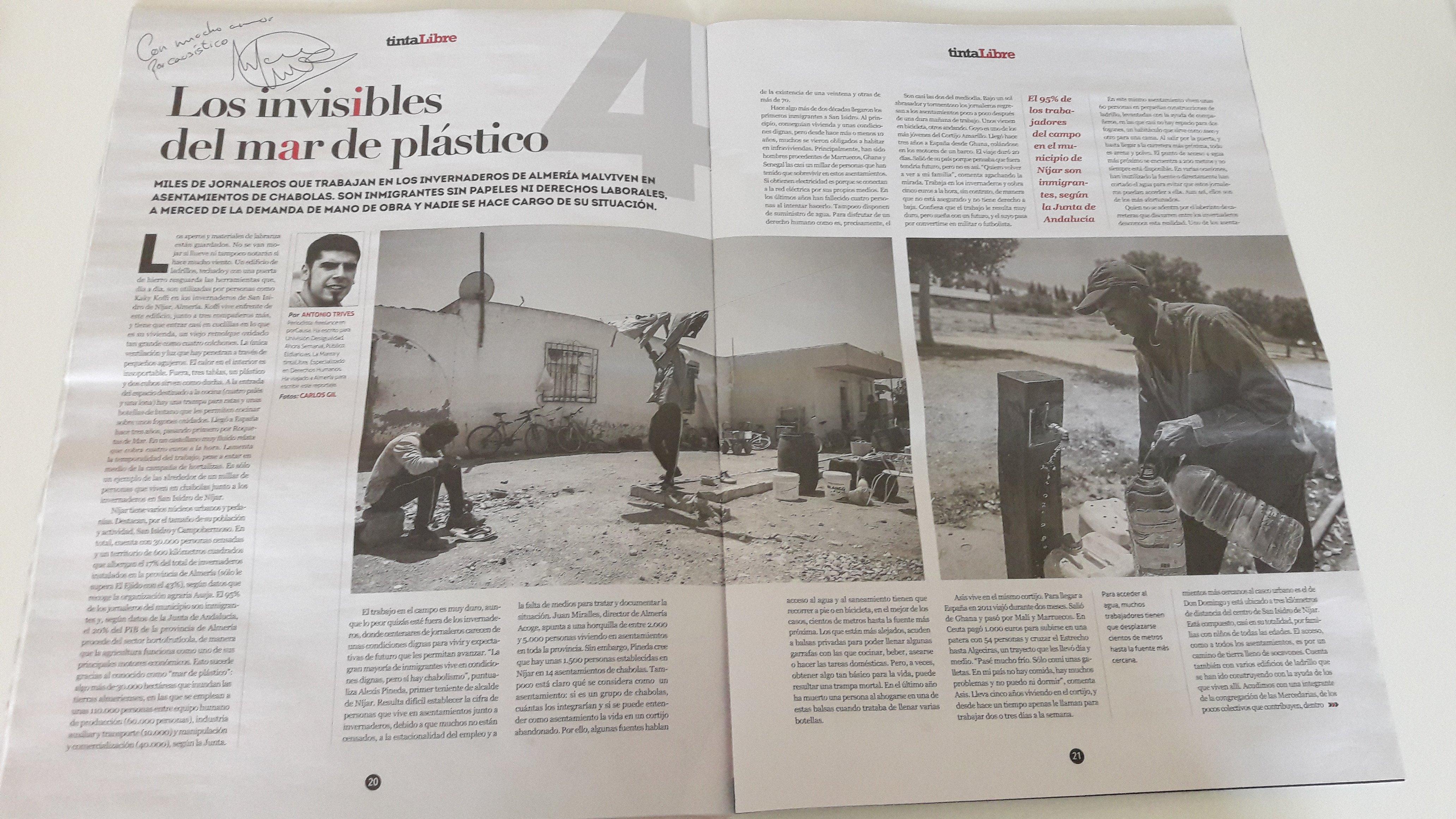 Un reportaje de Antonio Trives y Carlos Gil en el último número de TintaLibre.