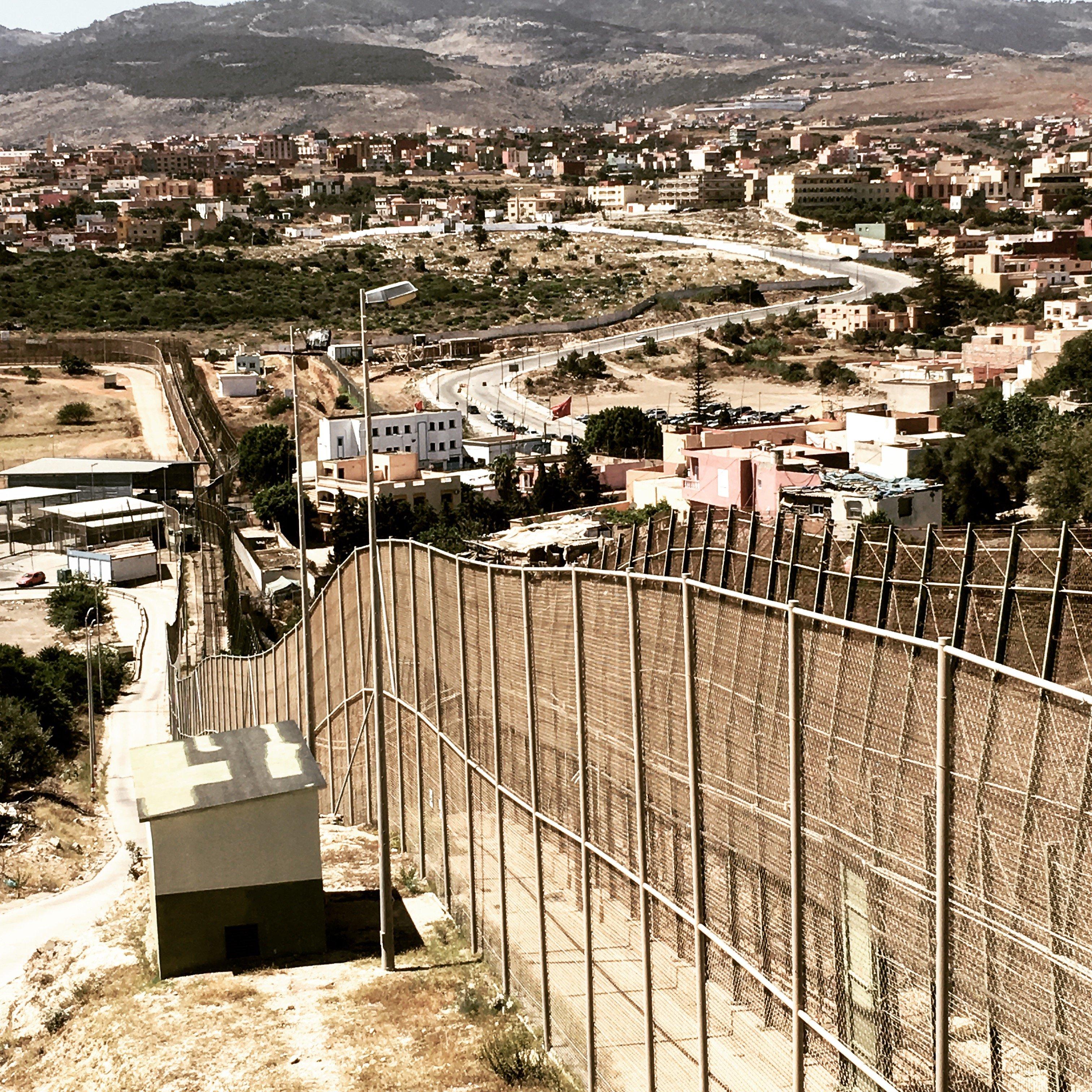 La valla de Melilla en mayo de 2017 por @lularoal