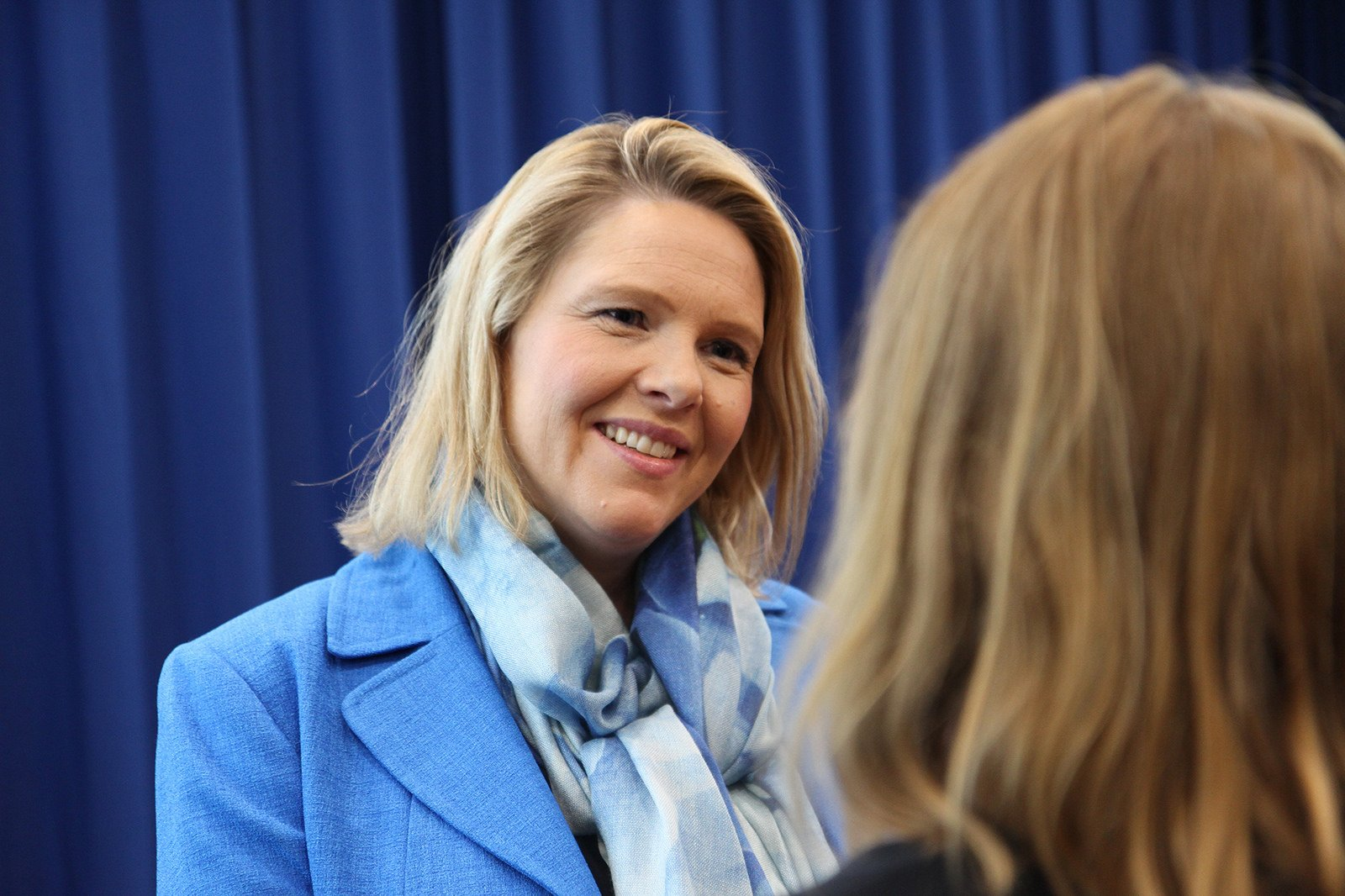 Sylvi Listhaug, ministra noruega de inmigración e integración, perteneciente al Partido del Progreso.