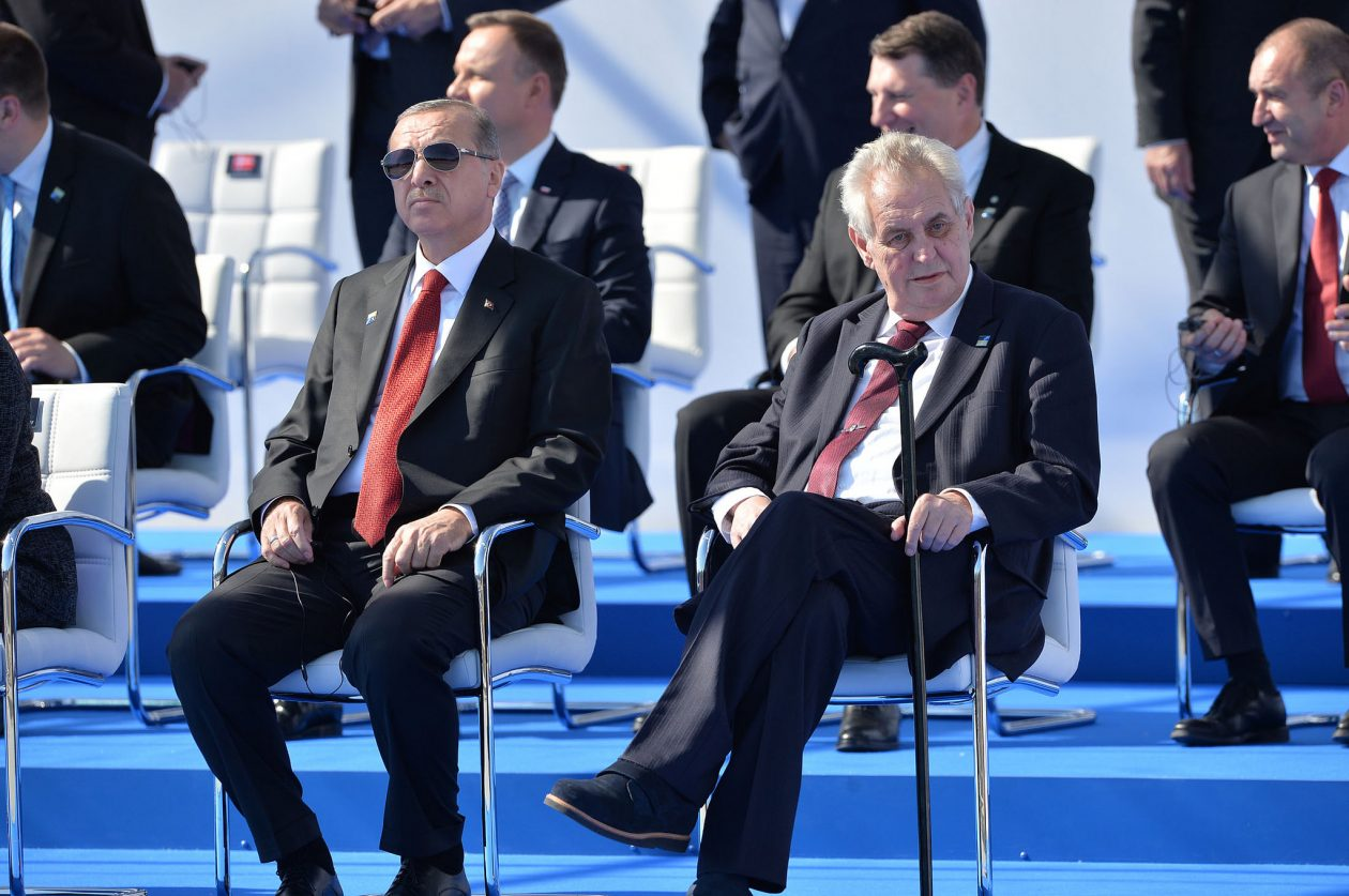 Recep Tayyip Erdogan (President, Turkey) and Milos Zeman (President, Czech Republic)