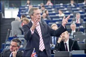 Nikel Farage en una sesión del Parlamento Europeo.