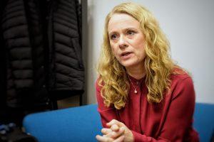 La ministra noruega de trabajo y asuntos sociales, Anniken Hauglie.