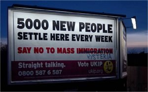 Foto / Ian Burt Valla electoral el partido UKIP.