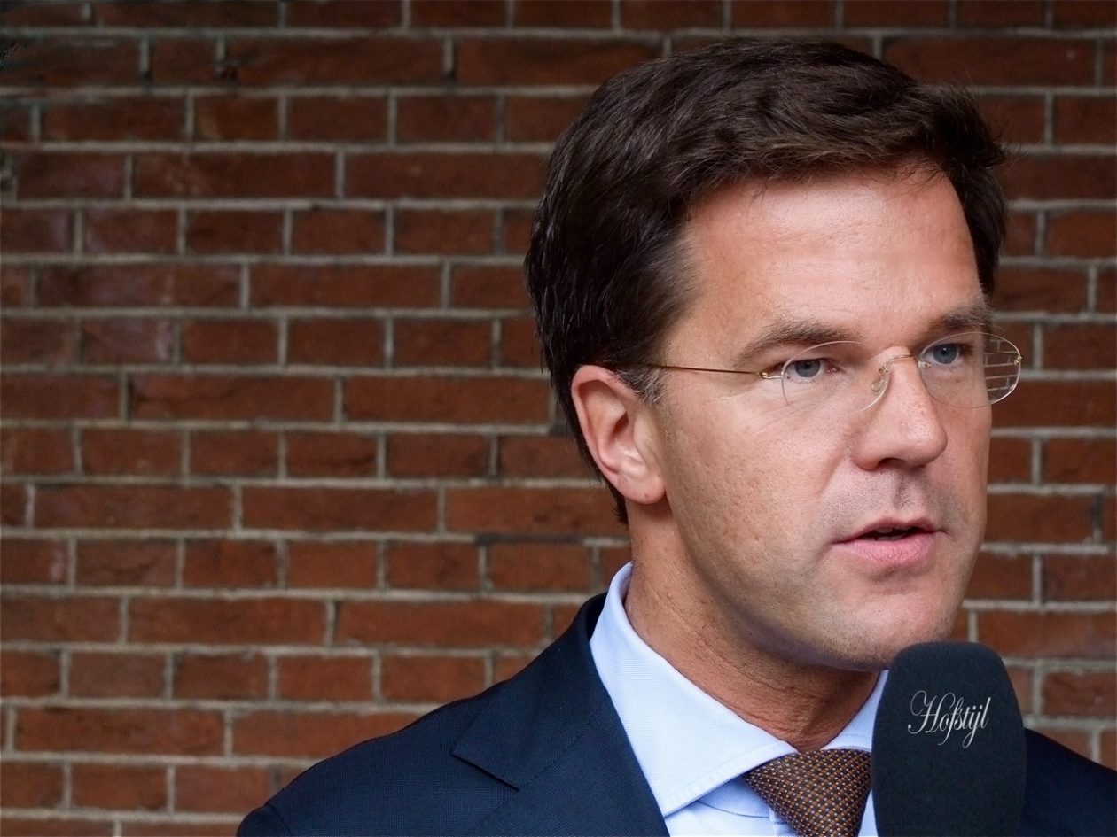 El primer ministro holandés, Marc Rutte. Foto / Roel Wijnants CC BY-NC