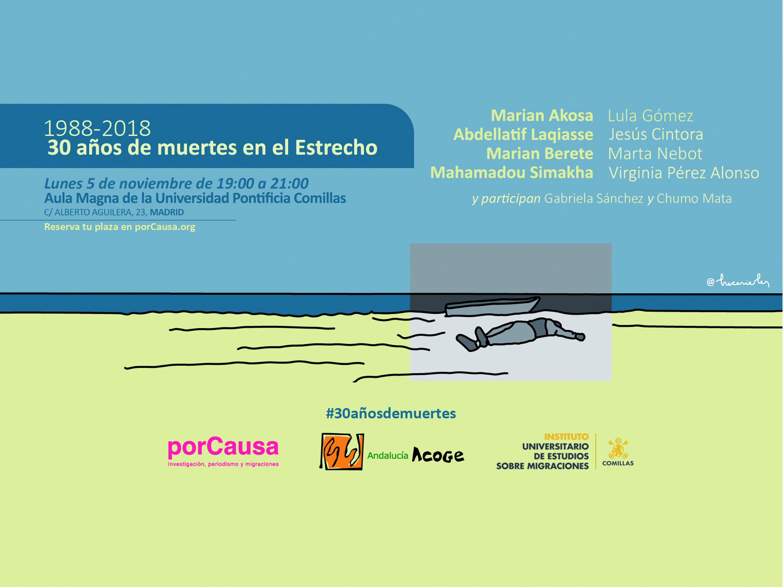 porCausa y Andalucía Acoge realizan un evento en conmemoración de los 30 años de la primera foto de una muerte en el Estrecho español