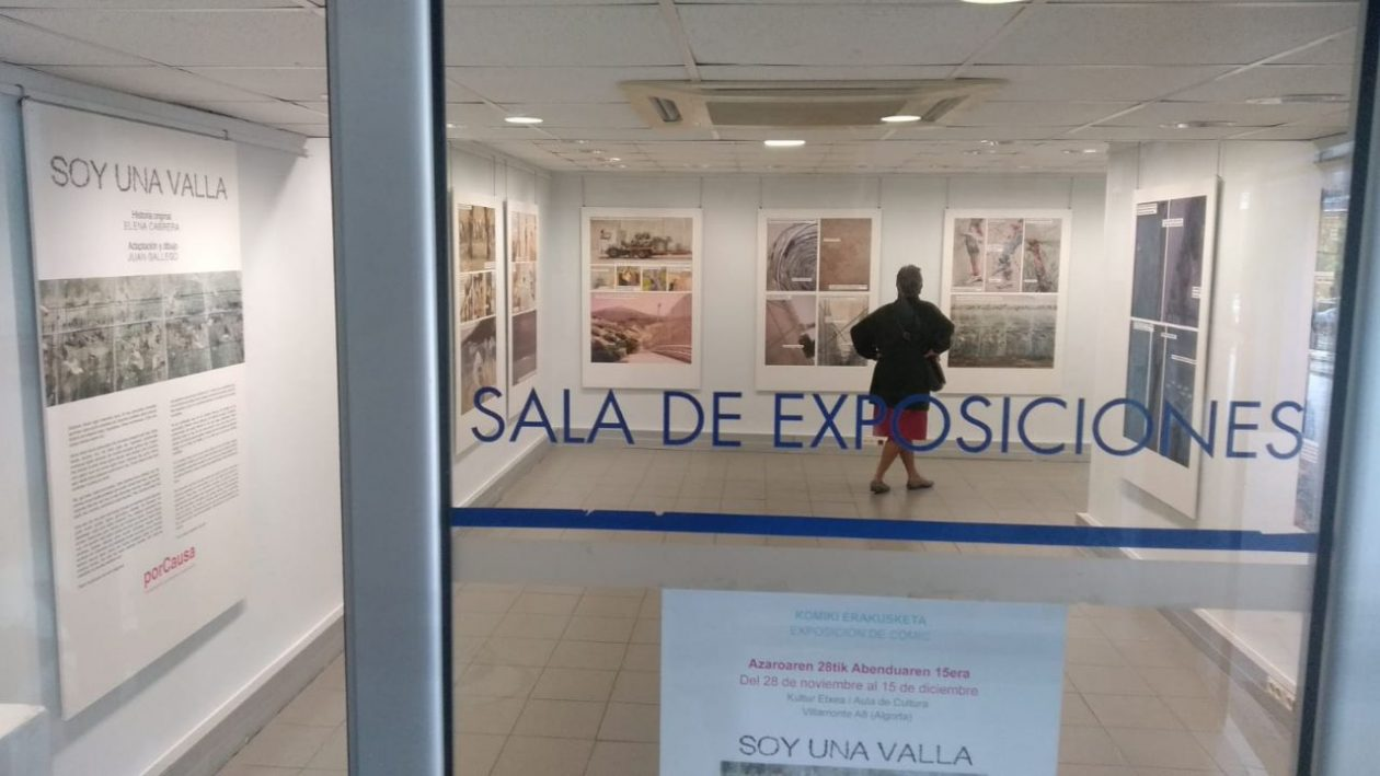 Valla exposición en Getxo